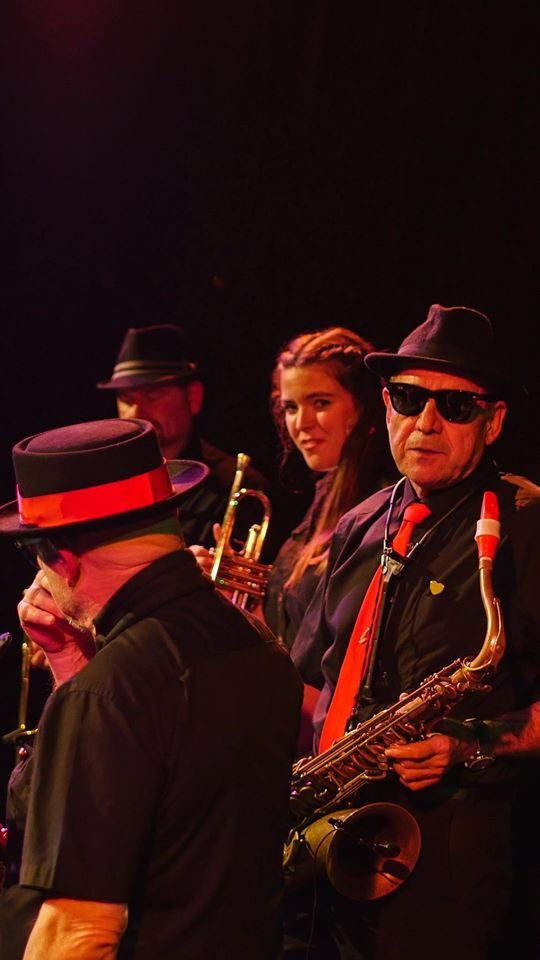 good horn section , Falmouth Soul Sensation, Cornwall Hugs Grenfell