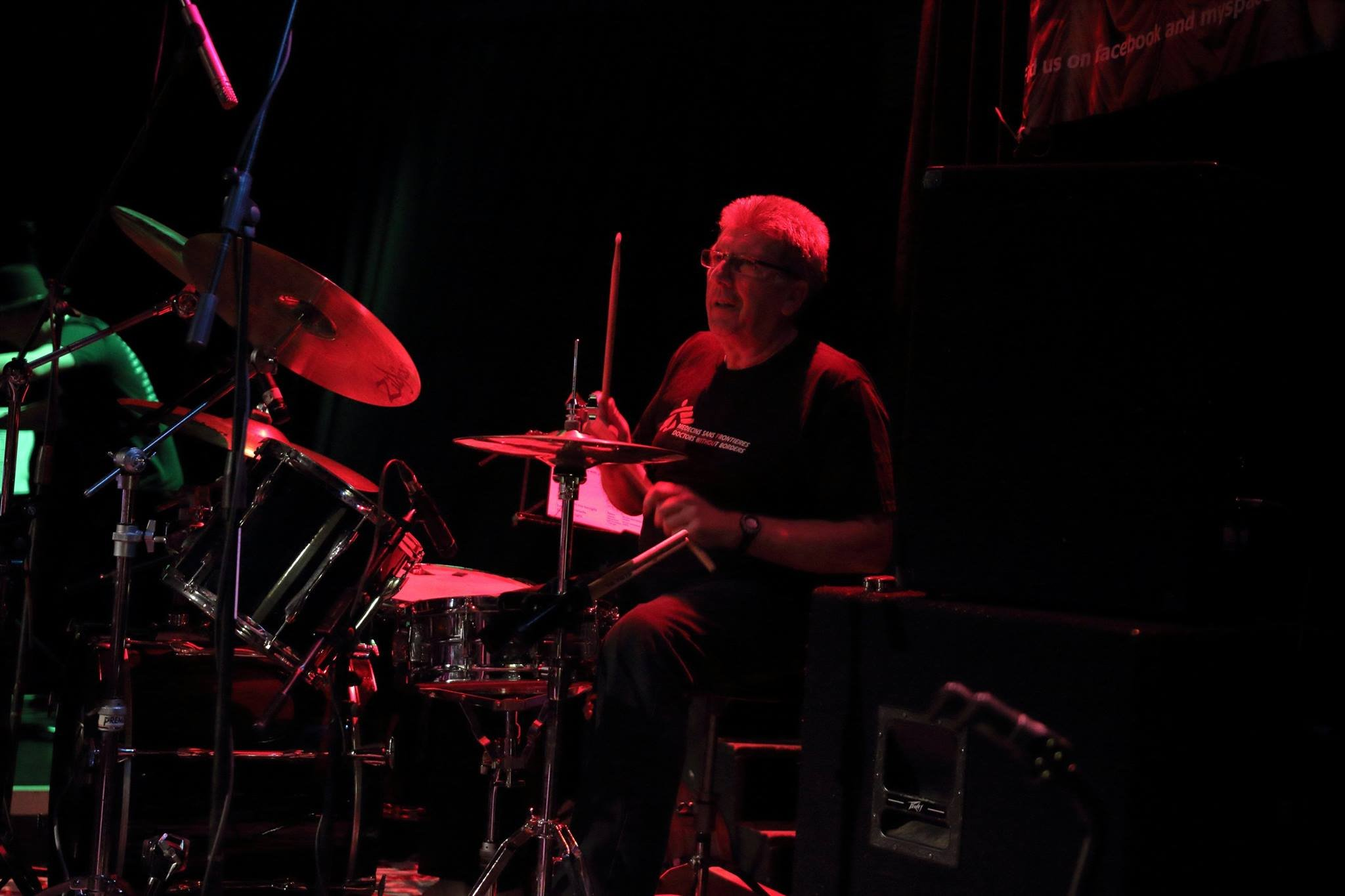 Bob Black manager and wizard, on Drums
