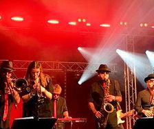 Well lit Looe Live stage by Matt Tyler , Soul Sensations